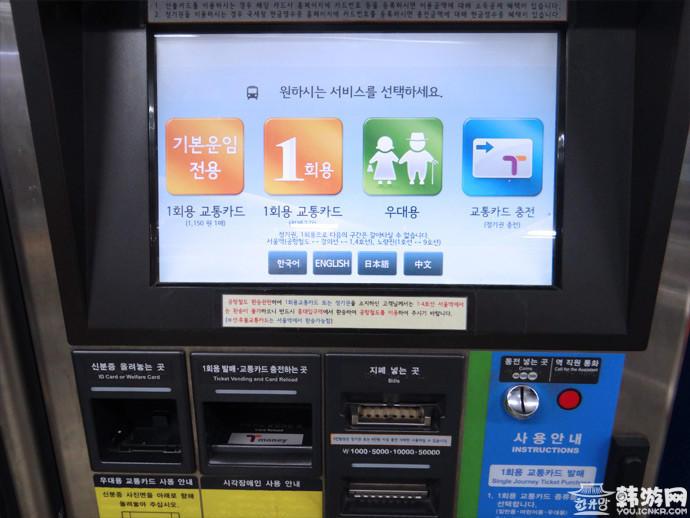 韩国地铁充值机