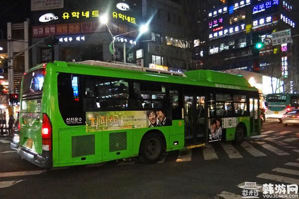 韩国公交,韩国红色公交车