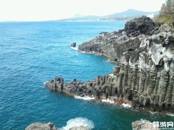 韩国济州岛柱状节理带