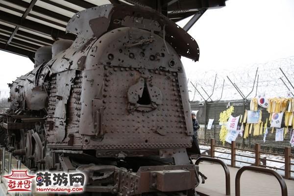 板门店战争时运送物资的火车