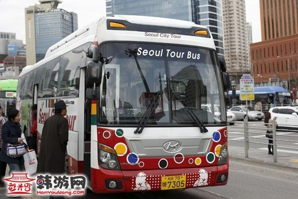 韩国首尔单层观光巴士
