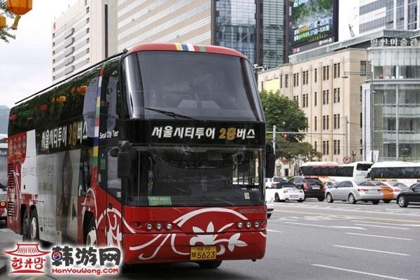 韩国首尔旅游双层观光巴士