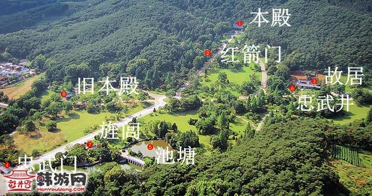 韩国忠清南道牙山市显宗祠导览图