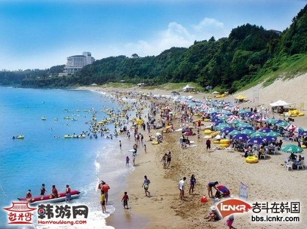 济州岛 西归浦市 中文海水浴场