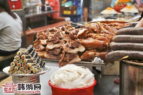 韩国广藏市场美食2