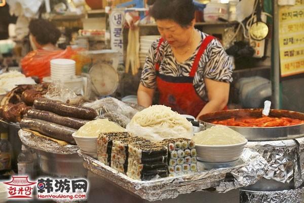 韩国广藏市场美食3