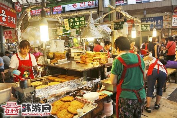 韩国广藏市场美食4