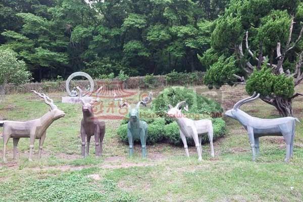 韩国木浦儒达山雕刻公园2