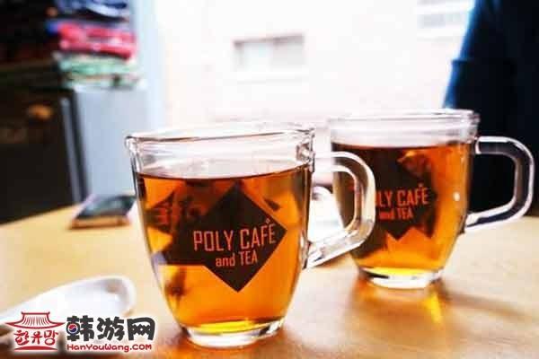 韩国弘大POLY CAFE and TEA咖啡甜品店8