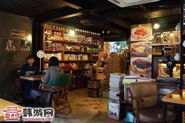 韩国弘大POLY CAFE and TEA咖啡甜品店13