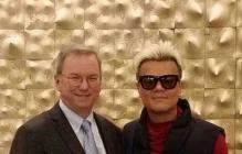 朴振英与谷歌执行董事长埃里克·施密特见面共进早餐