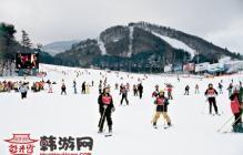 跟着韩剧去旅行 到龙平滑雪场开心滑雪