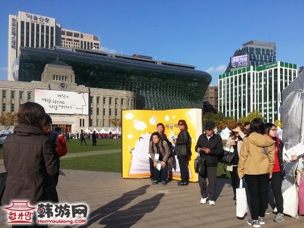 韩国首尔广场秋景图11