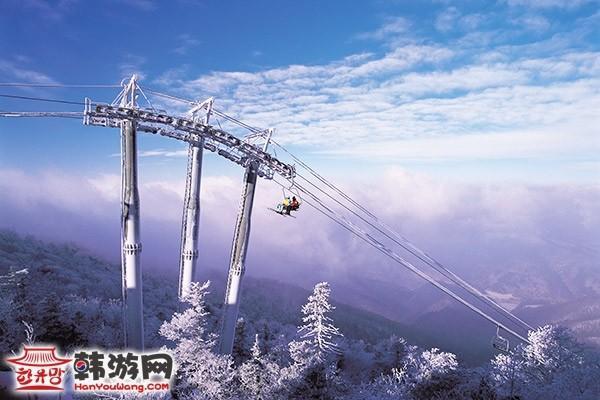 韩国龙平滑雪场7