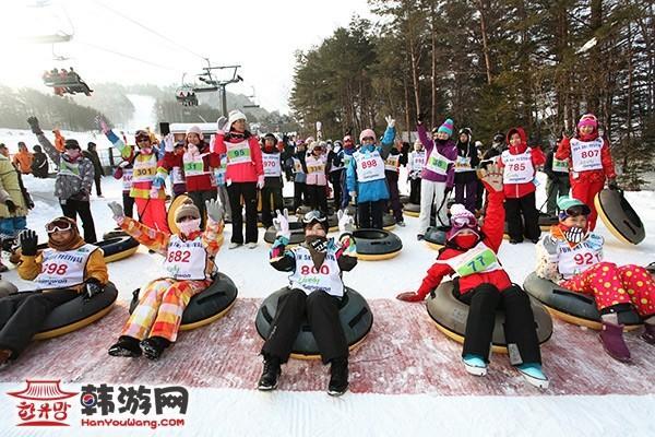 韩国龙平滑雪场8