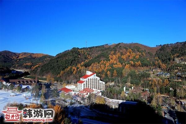 韩国龙平滑雪场9