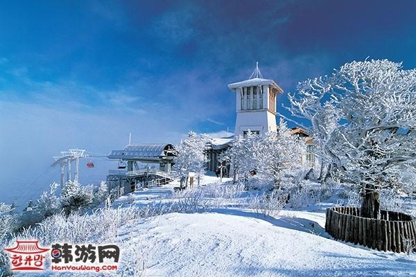 韩国龙平滑雪场12