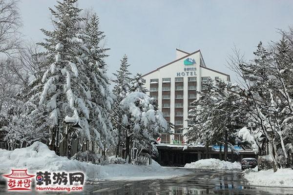 韩国龙平滑雪场13