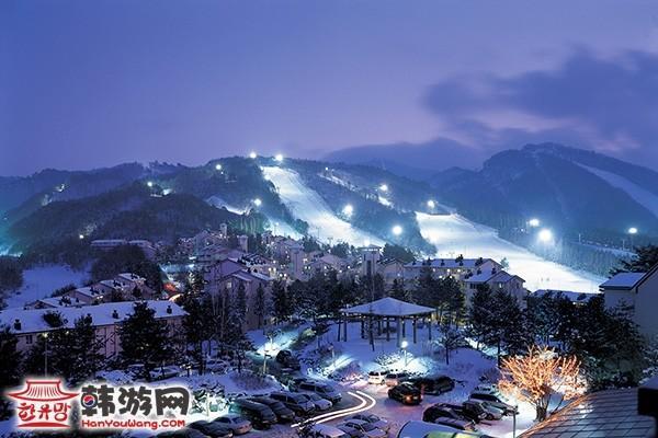 韩国龙平滑雪场14
