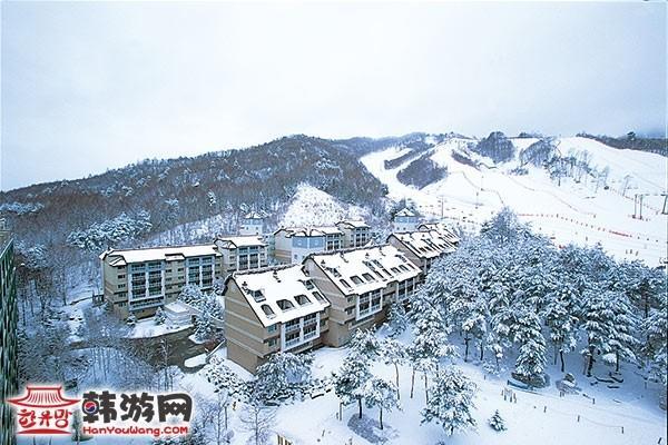韩国凤凰城度假村滑雪场19