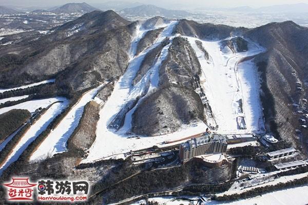 韩国阳智松林度假村滑雪场16