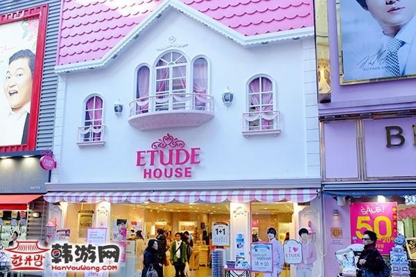 韩国化妆品店ETUDE HOUSE明洞1号店