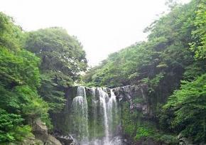 济州岛天地渊瀑布