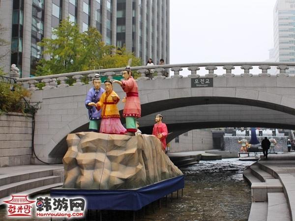 韩国清溪川广场