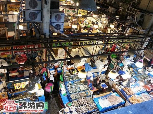 韩国鹭梁津水产市场1