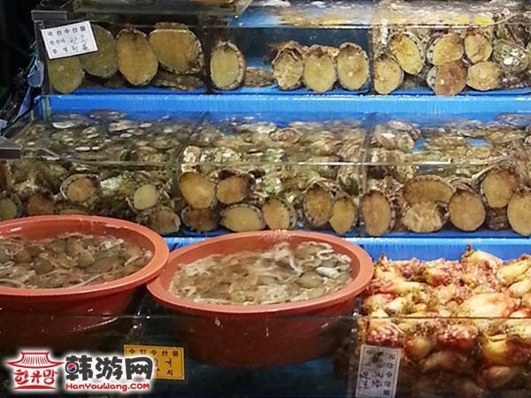 鹭梁津水产市场海鲜现做_韩国美食_韩游网