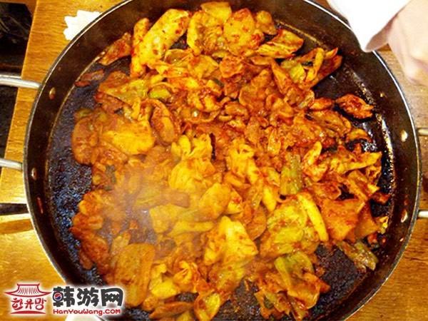 东大门柳家铁板鸡美食店_韩国美食_韩游网