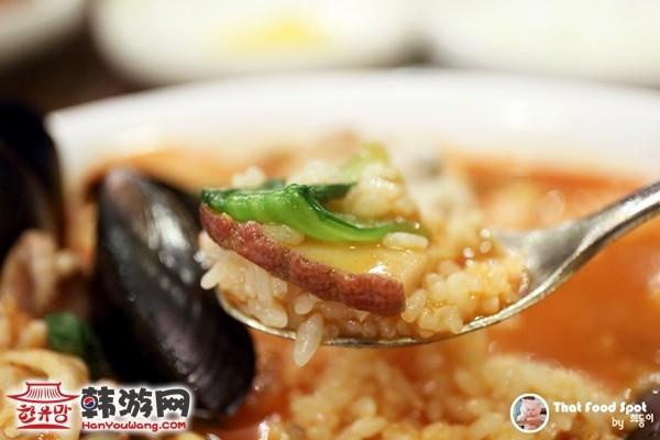 韩国江南金门岛中国餐厅海鲜辣汤面