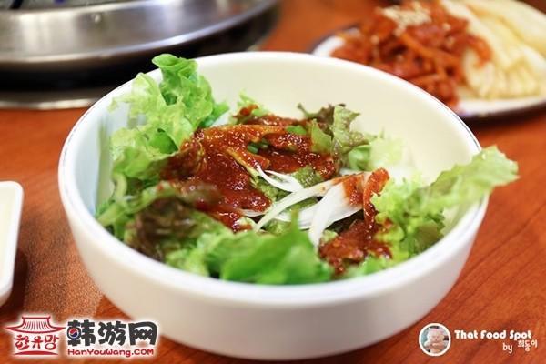 韩国江南手大的富人家生菜