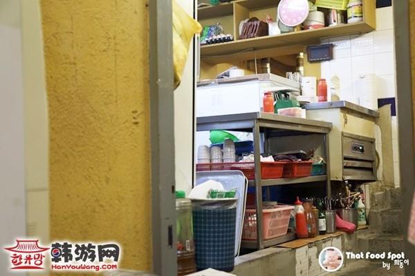 韩国江南手大的富人家美食店厨房