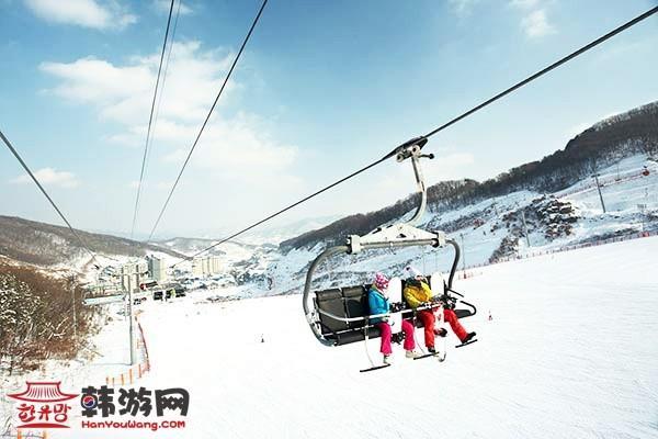 昆池岩度假村滑雪场