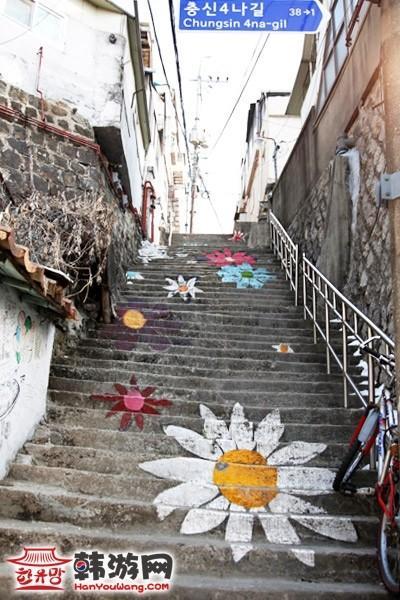 韩国首尔骆山公园、梨花村(壁画村)