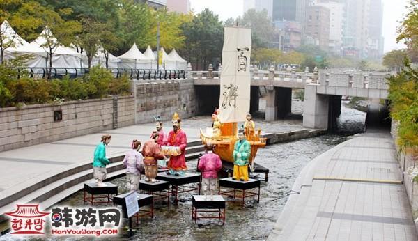 韩国首尔清溪川广场