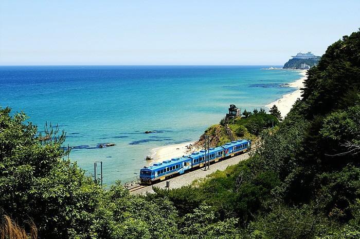 韩国东海 正东津 海洋列车