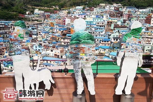韩国釜山甘川文化村-融为一体