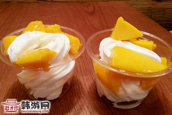 韩国明洞爱文芒果Mango HaHa甜品店09