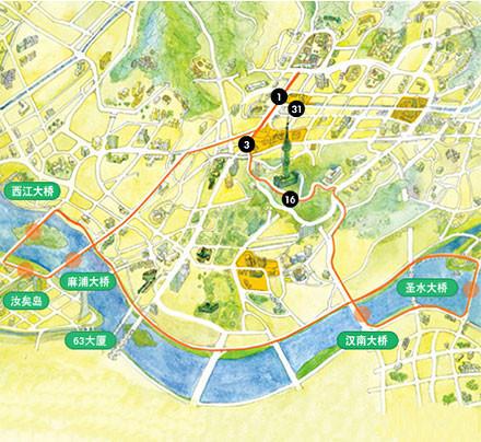 门票列表 首尔城市观光巴士       (麻浦大桥)      (汝矣岛)