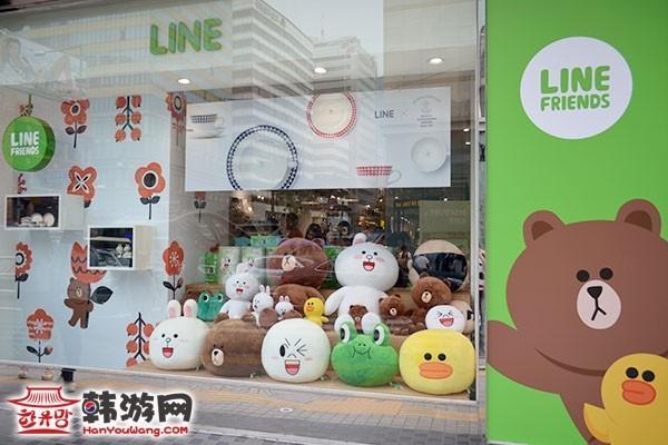 明洞Line Friends Store人氣周邊店_韓國購物_韓遊網