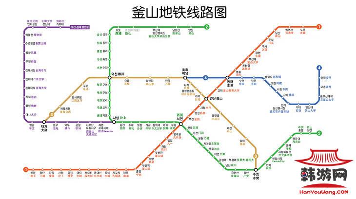 釜山地铁图