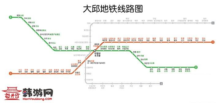 大邱地铁图