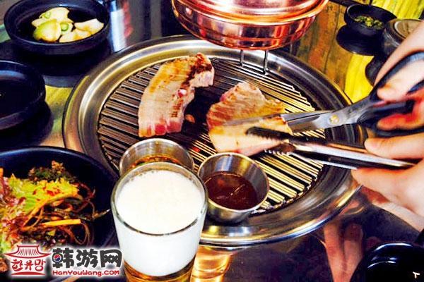 Running man HAHA 弘大烤猪肉店401_韩国美食_韩游网