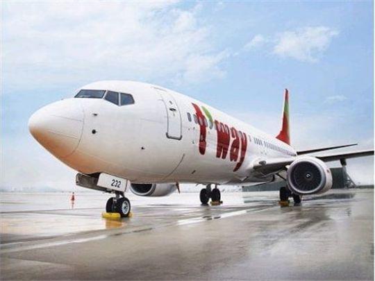 韩国德威航空公司旅游包机大邱至石家庄和成都航线开通
