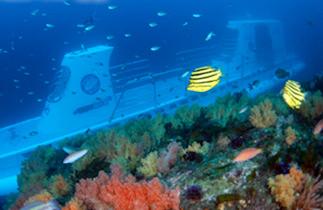 济州岛西归浦潜水艇