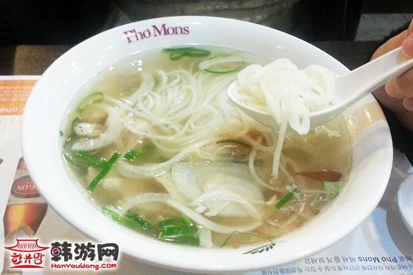 建大Phomons越南米线店鸡美食一