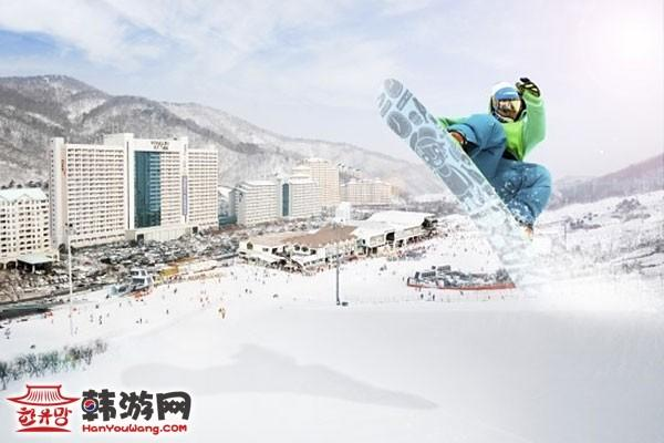 滑雪场 韩国 龙平 凤凰城