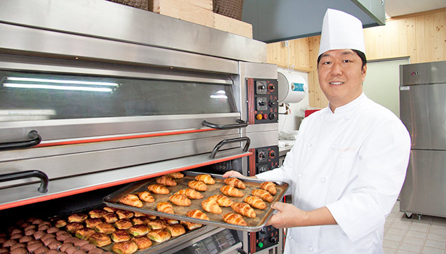 济州岛烤烤火炉面包